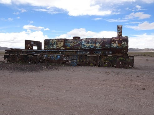 Rusting body of a dead train