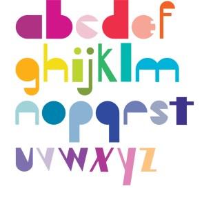 Type design: Blümenhaus (lowercase)