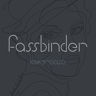 Type Design: Fassbinder (Lowercase)