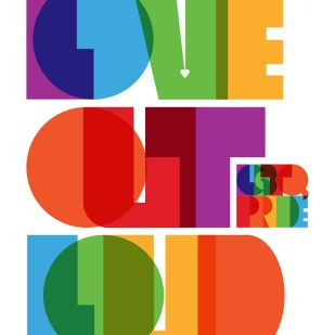 """Love Out Loud"" Poster for Creative Action Network"