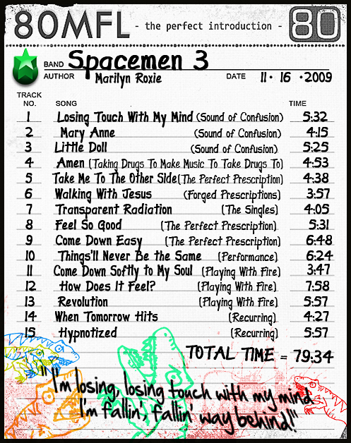 Click the list to hear our SPACEMEN 3 iMix