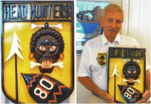Larry Guarino with 56-64 Plaque
