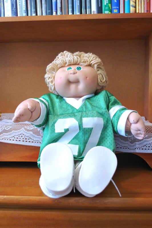 80s Cabbage Patch Kid-Boy in Green Jersey