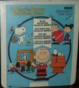"""A Charlie Brown Festival II"" Videodisc   80sretroplace.wordpress.com"