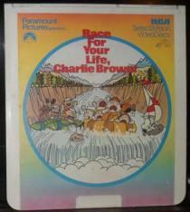 """Race for Your Life, Charlie Brown"" Videodisc   80sretroplace.wordpress.com"