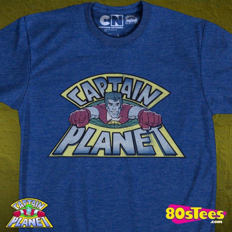 Captain Planet T-shirt Mens
