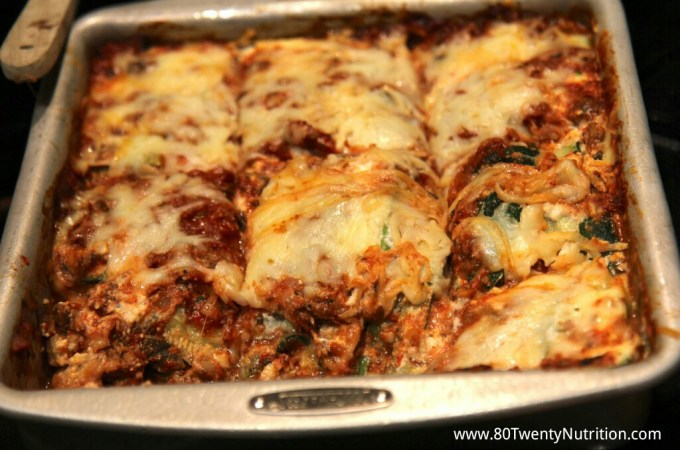 Skinny Zucchini Lasagna – low carb and gluten free!