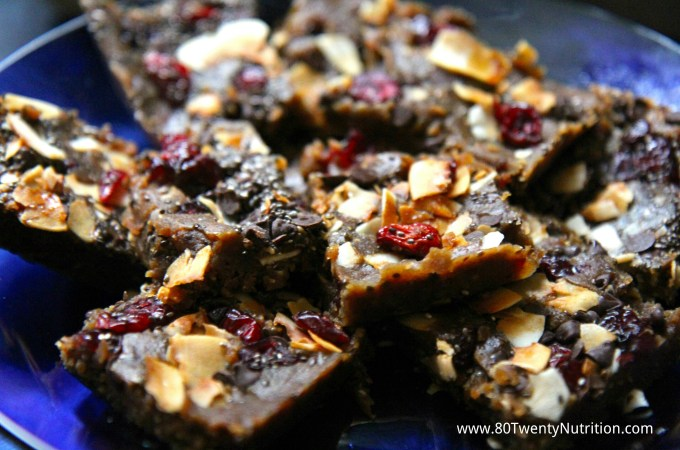 No Bake Lentil Energy Bars