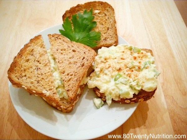 Healthier Egg Salad Sandwich with Greek Yogurt