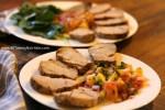 Roasted Pork Tenderloin with Pineapple Salsa - media dietitian Christy Brissette 80 Twenty Nutrition