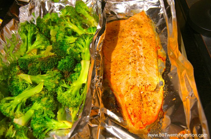 Salmon and Broccoli Baked with Lemon, Garlic and Dijon – Best Ever!