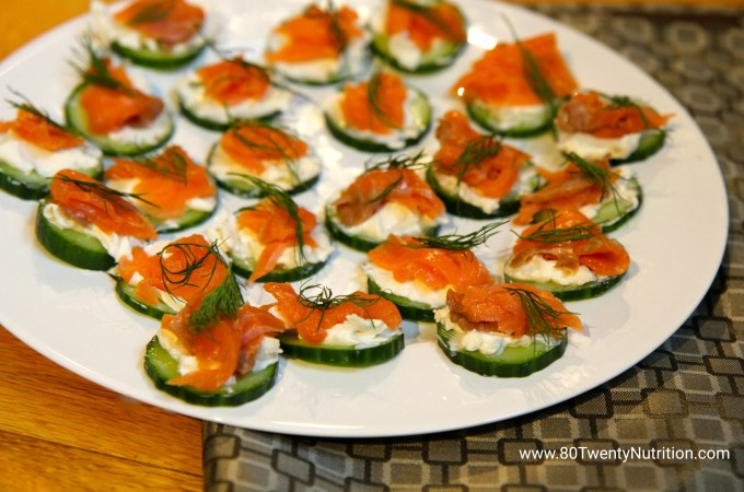 Smoked Salmon Cucumber Bites – Low Carb and Gluten-Free!
