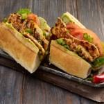 Grilled Chicken Po Boy Sandwich with Spicy Mustard Sauce