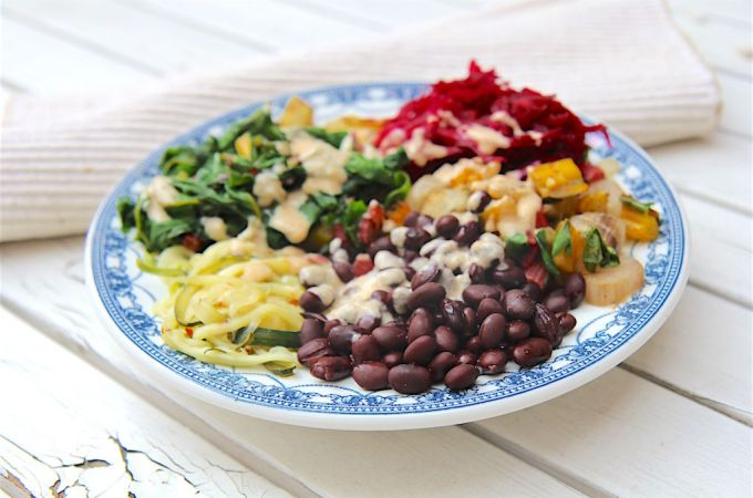 Black Bean and Swiss Chard Pegan Bowl - Christy Brissette media dietitian 80 Twenty Nutrition - paleo and vegan, gluten-free, dairy-free