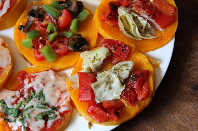 Easy Paleo Pizza Crust – Butternut Squash Mini Pizzas!
