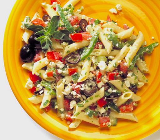 Mediterranean Pasta Salad with Fresh Herbs