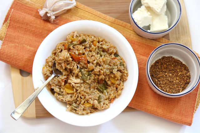 Healthy Jambalaya with Shredded Chicken Breasts and Brown Rice in the Instant Pot - The Perfect One Pot Meal! recipe by Christy Brissette registered dietitian nutritionist and media spokesperson, president of 80 Twenty Nutrition