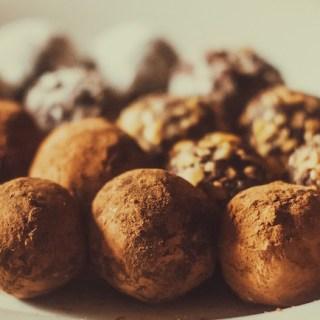 Chocolate Avocado Truffles with Pink Himalayan Salt - vegan and gluten free - recipe by media registered dietitian nutritionist Christy Brissette 80 Twenty Nutrition www.80twentynutrition.com