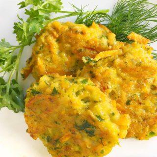 parsnip fritters sweet potato zucchini paleo gluten free