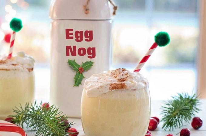Eggnog with a Twist – Healthy Banana Eggnog!