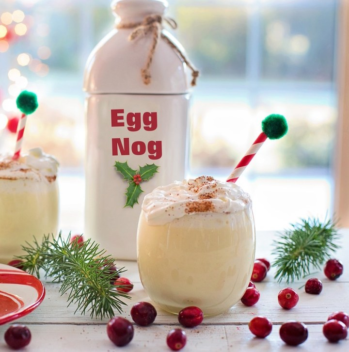 Banana Egg Nog - Vegan, Dairy-Free, Gluten-Free Egg Nog with No Refined Sugar - recipe by Christy Brissette, media registered dietitian and president of 80 Twenty Nutrition