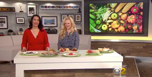 Media registered dietitian nutritionist Christy Brissette of 80 Twenty Nutrition live on CBS Chicago discussing Mood-Boosting Foods for mental health awareness month