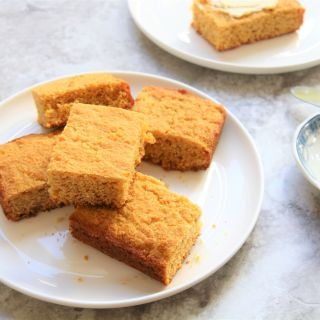 Healthy Cornbread - the best vegan gluten-free dairy-free high fiber low fat low sodium sugar free cornbread Christy Brissette media registered dietitian nutritionist in Chicago - president of 80 Twenty Nutrition