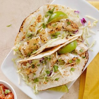Best Ever Healthy Fish Tacos with Tangy Slaw - Gluten Free, Dairy Free - best healthy fish taco recipes - Christy Brissette media registered dietitian nutritionist in Chicago - president of 80 Twenty Nutrition