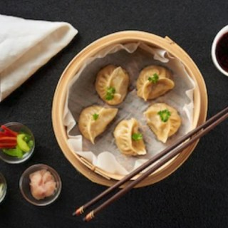 Chicken Mushroom Pot Stickers - Healthy Steamed Dumplings recipe by Christy Brissette media registered dietitian nutritionist President of 80 Twenty Nutrition in Chicago