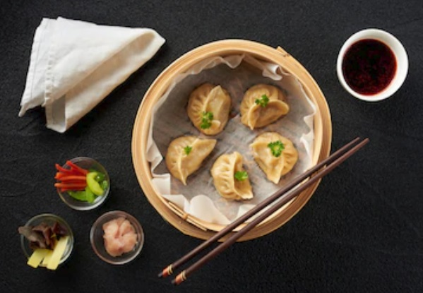 Chicken Mushroom Pot Stickers – Healthy Steamed Dumplings!