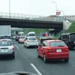 高速道路集中工事で 毎日大渋滞