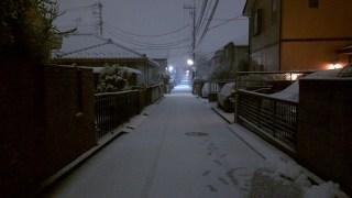 東京 初雪 西東京も積もってます【暖冬の2016 関東平野部に初雪】