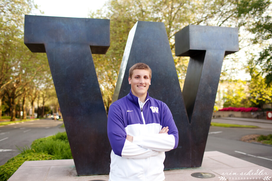 Andy | Senior Photos at UW Campus
