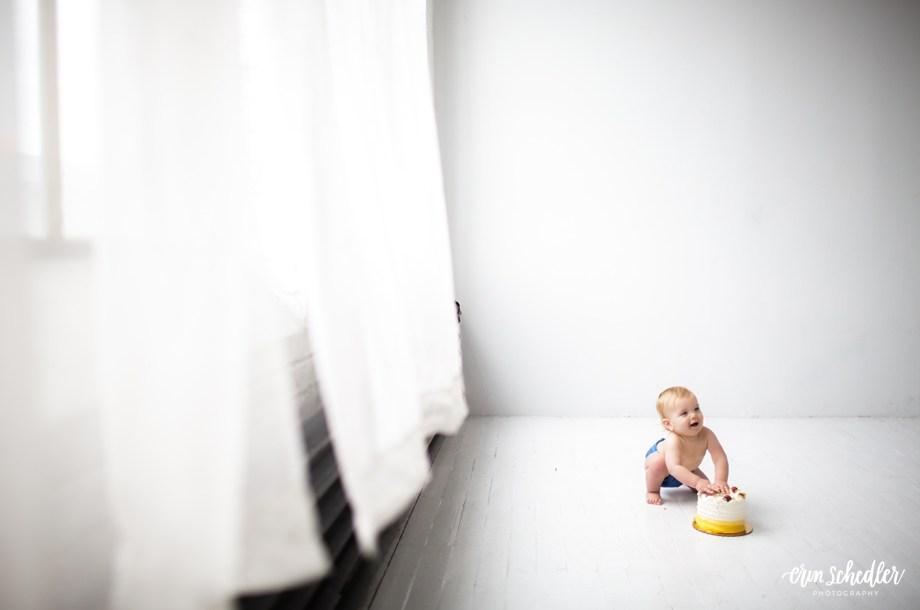 Studio Cake Smash / Seattle Baby Photography