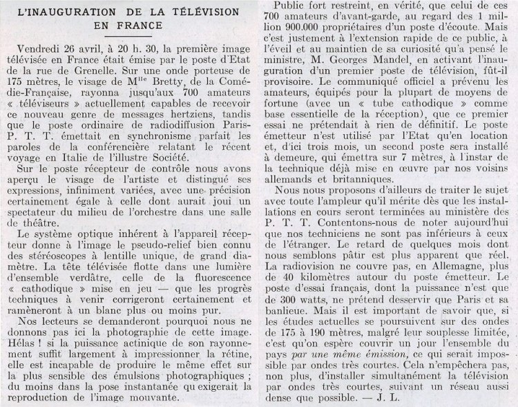 L'Illustration du 11 mai 1935