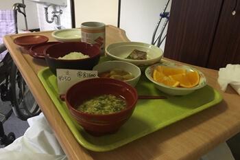 入院1日目・昼食
