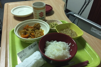 入院1日目・夕食