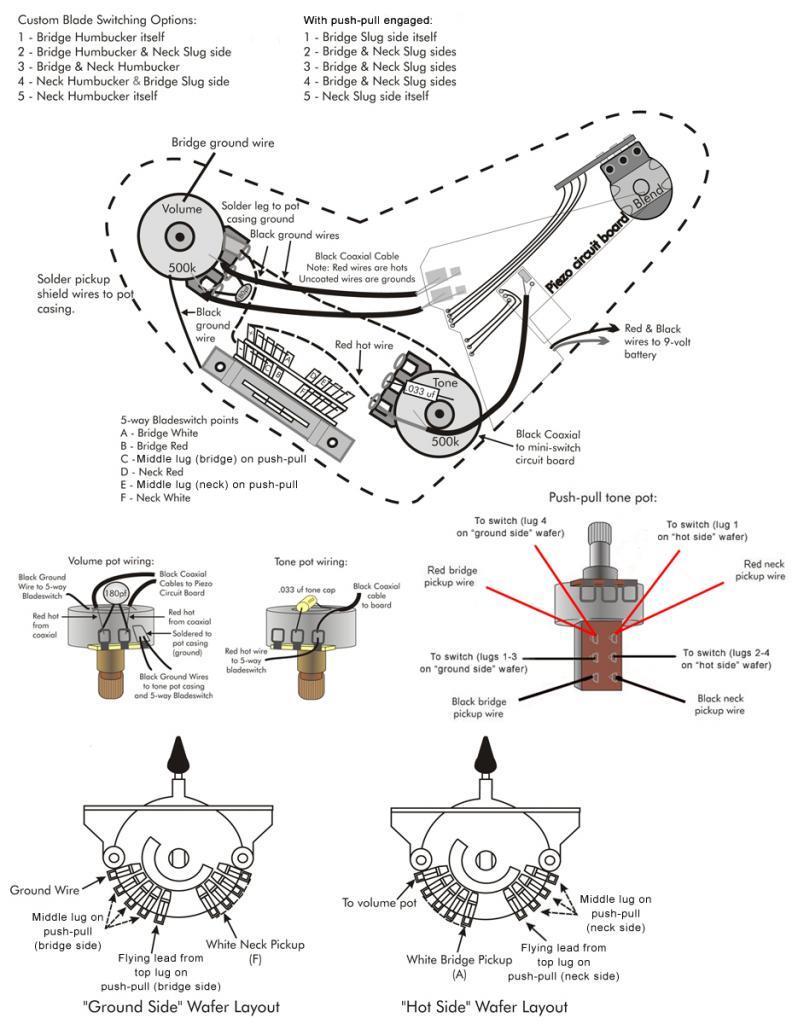 wiring diagram for paul reed smith guitars