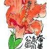 奄美群島国立公園誕生の日=2017年3月7日--アキラさんの絵手紙2017