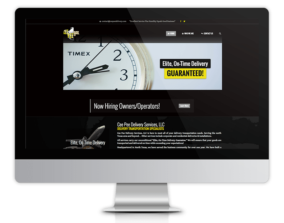 Client Site Launch Cee Pee Delivery Services
