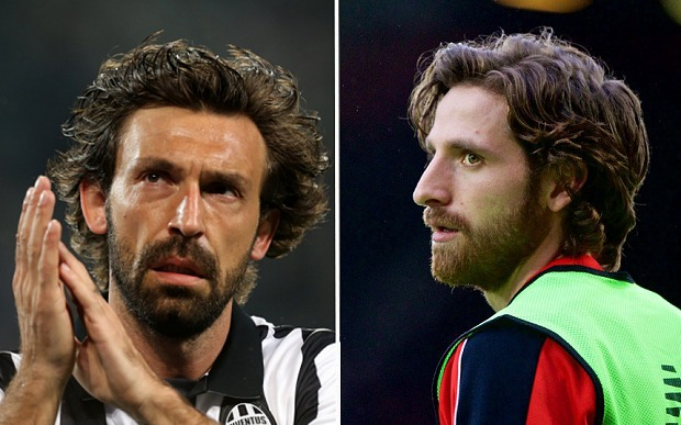 Genuinely this time, Pirlo on the left and Allen on the right.
