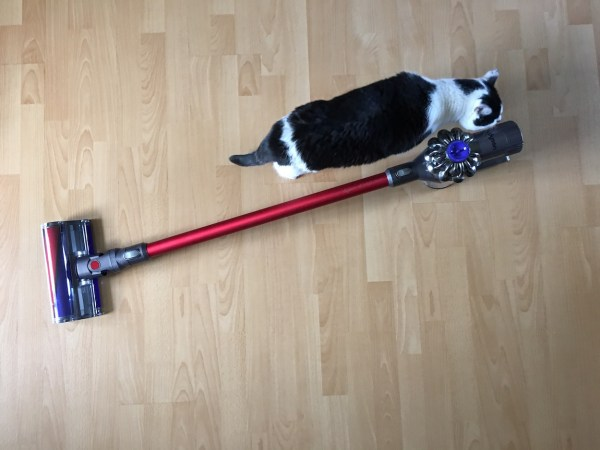 Dyson v6 Total Clean (Moo for scale)