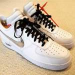 レブロン KD 着用! OFF-WHITE X NIKE AIR FORCE 1 LOW ホワイト