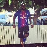 【今日の一枚】レブロン FCバルセロナのユニフォームを着る
