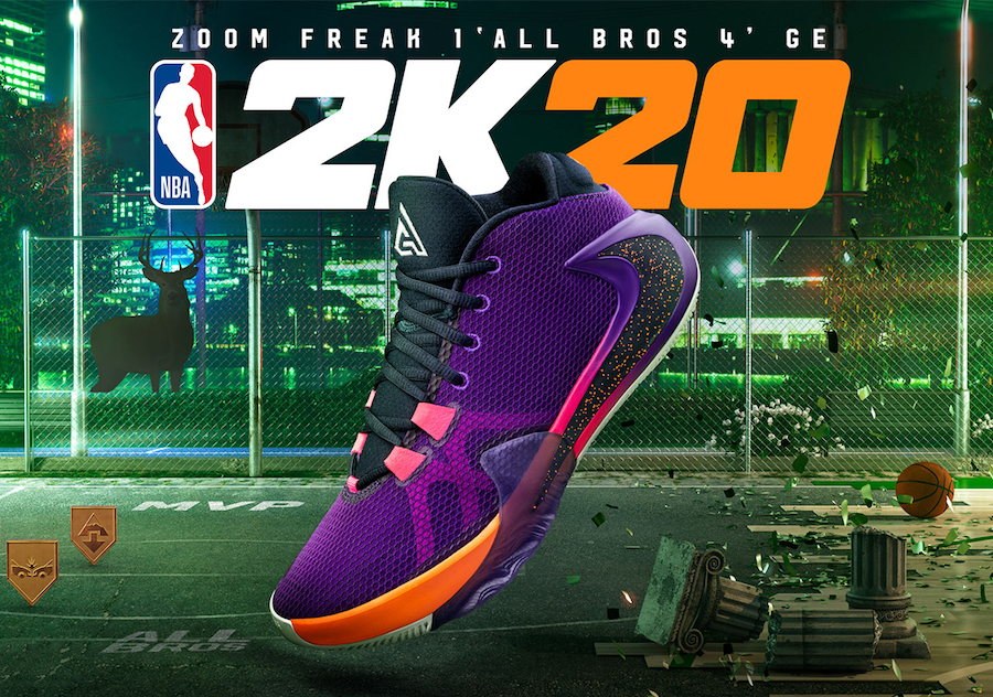 NBA 2K20 ナイキ ズーム フリーク1 オールブラザーズ 4 GE