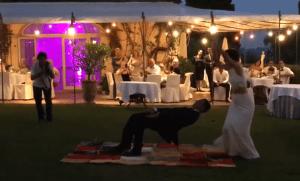 grande illusion - arrivée magique des mariés