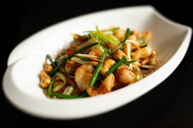 Fortune Villa - Wok fried Shrimps with Chinese leeks and XO