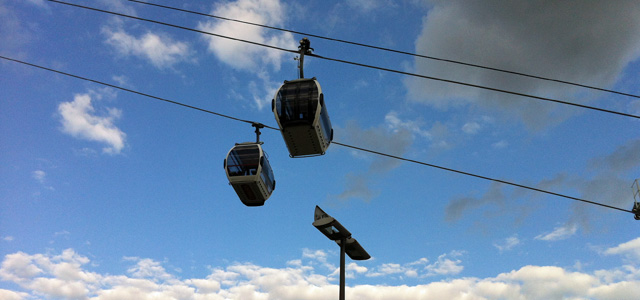 Greenwich cable car, 18 June 2012