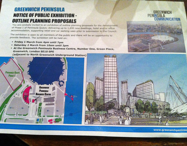 Greenwich Peninsula 'consultation''