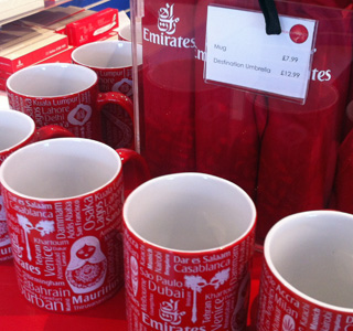 Emirates Air Line gift shop, 7 July 2013